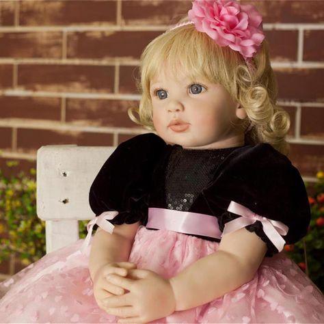 Simulation Baby Powder Skirt Doll