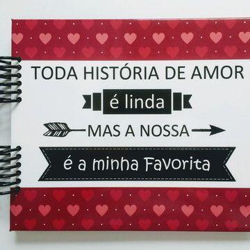 Album Scrapbook Romantico Namorados Nossa Linda Historia Album