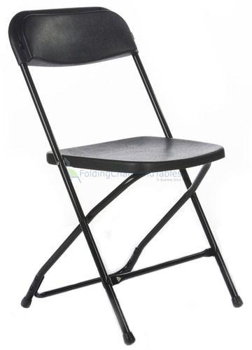 Black Plastic Folding Chair Premium Rental Style Black Plastic