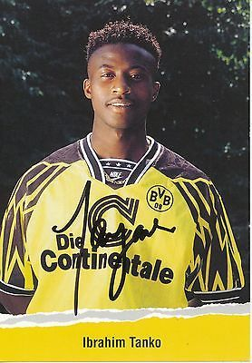 Ibrahim Tanko Borussia Dortmund 1994/1995   Borussia dortmund, Dortmund,  Baseball cards
