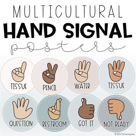Hand Signal Posters for Classroom Management 3rd Grade Classroom, Classroom Posters, Classroom Design, Kindergarten Classroom, School Classroom, Classroom Themes, Classroom Rules, Future Classroom, Teacher Organization