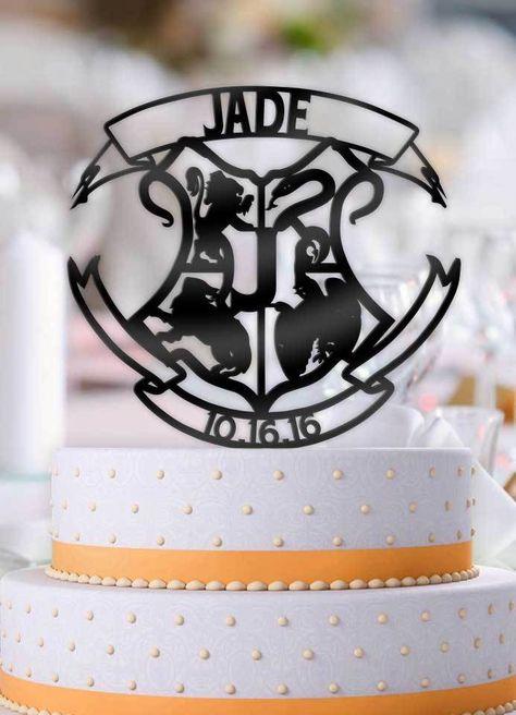 Wedding crest PersonalisedCupcakeCake ToppersSize Choice