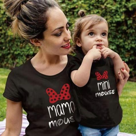 Rainbow Mother Daughter T-shirts Summer Family Matching Outfits Mom Baby Mommy and Me Tee-shirt Clothes Woman Girls Cotton Tops - MY-B (black) / Baby 80 (12M)