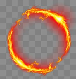 Flame circle. Clipart chinese png
