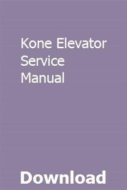 Kone Elevator Service Manual | melistrali | Nissan, Nissan