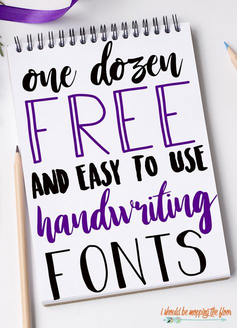 These 12 Free Handwriting Fonts are perfect for crafts, vinyl, printables, and so much more!