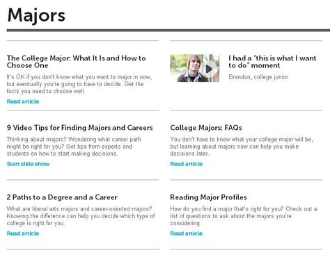finding a major