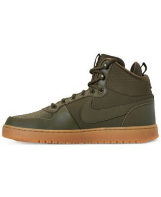 Nike Men S Ebernon Mid Winter Casual Sneakers From Finish Line Green 10 Mens Winter Fashion Trending Shoes Casual Sneakers