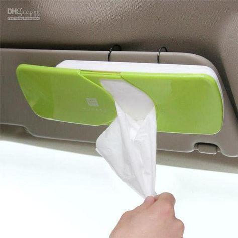 Cute NEW Car sun visor Tissue box Auto accessories holder Paper napkin clip ABS Perfect for the kiddos