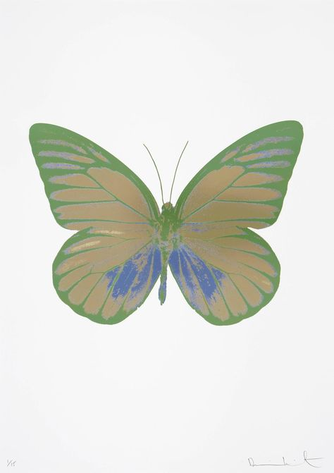 Available for sale from Other Criteria, Damien Hirst, The Souls I - Cool Gold - Cornflower Blue - Leaf Green Foilblock print, 28 × 22 in Graphic Design Posters, Psychedelic Art, Photo Backgrounds, Aesthetic Art, Wall Collage, Wall Prints, Art Inspo, Cool Art, Backdrops