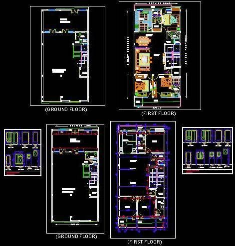 Independent House 30 X60 G 1 Floor Layout Plan Dwg Drawing Download Independent House Floor Layout Floor Plan Layout