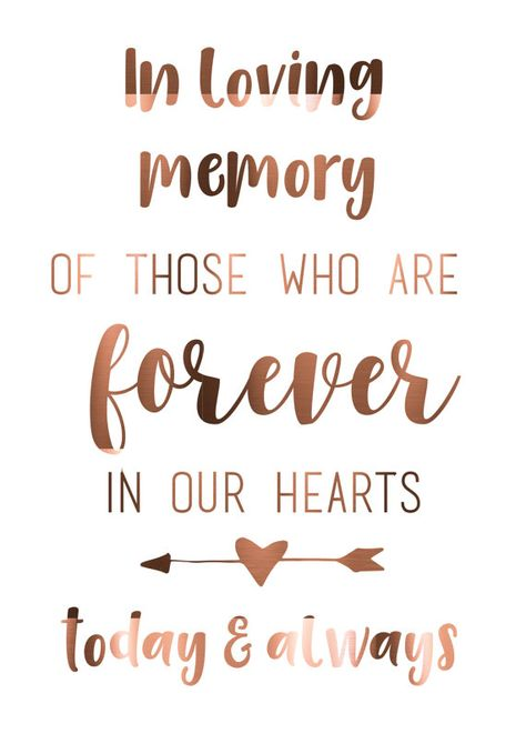 7 DAY SALE 15% OFF Real Copper Foil In loving memory wedding