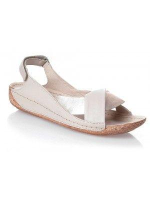 Polskie 100 Cale Wloska Skora Sandaly Bezowe Rzep Shoes Flats Fashion