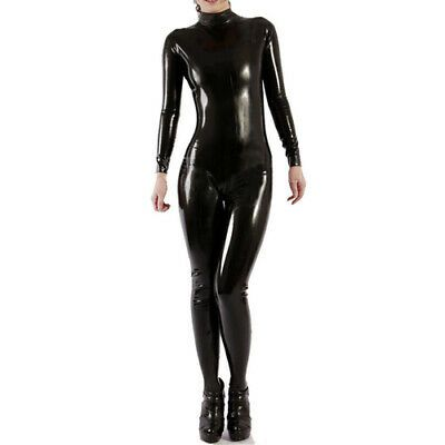 100/%Latex Rubber Catsuit Navy blue and Black Tights Cool Bodysuit Size XS~XXL