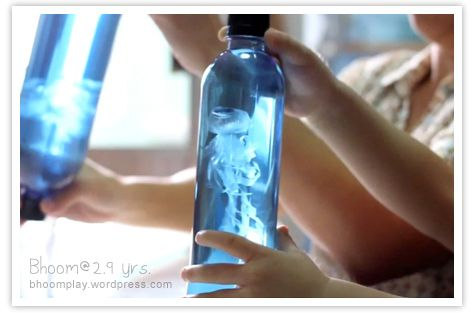 Make a jelly fish in a bottle...