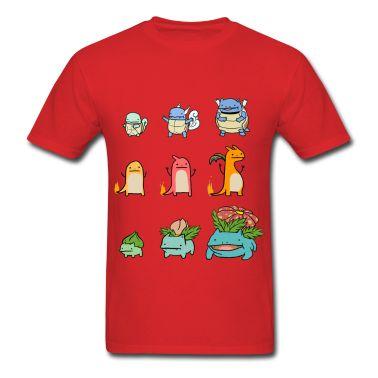 Charmander Evolution Chart Le And Bulbasaur Shirt T