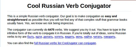 Russian Verbs Thus Form