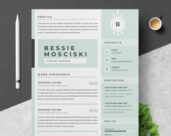 Resume Template Cv Template Etsy Resume Template Cv Template Project Manager Resume