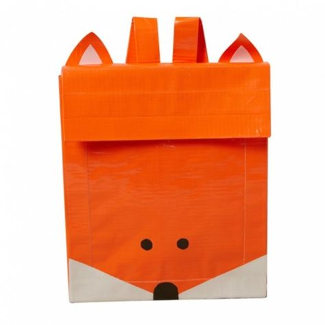 Tutorial: Make a Duck Tape® Fox Backpack http://dollarstorecrafts.com/2013/09/tutorial-make-a-duck-tape-fox-backpack/