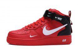 Nike Air Force 1 High Retro 07 Red Black White Men S Women S Sneakers Shoes 804609 605 Nike Shoes Air Force Nike Air Shoes Streetwear Shoes