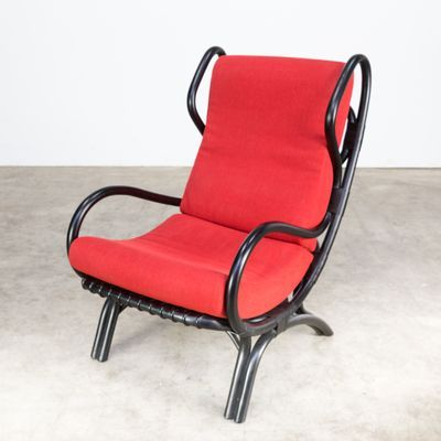 Model Bp16 Black Bamboo Lounge Chair By Gio Ponti For Pieff 1960s