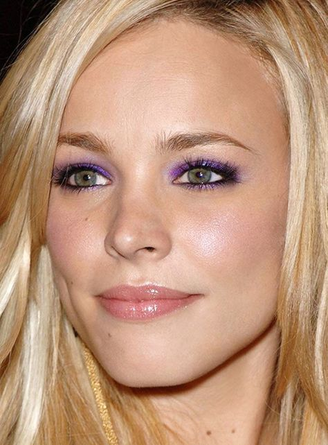 Rachel McAdams showing purple eye shadow can be classy.