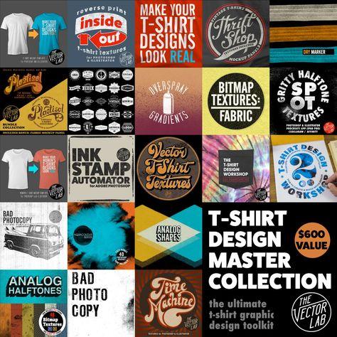 a38b30a44 T-Shirt Design Master Collection | Craft | Effects photoshop, Arte ...