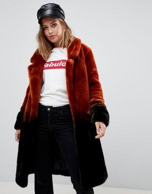 2019 Urbancode Ombre Coat Fur Faux Longline In EIeY9DW2bH
