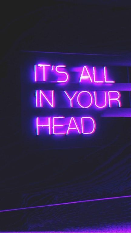 Neon Letters That Spell Out It S All In Your Head Com Imagens