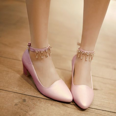 Women High Heels Shoes Rhinestone