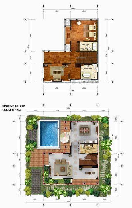 Furama Villas Danang 4br Pearl Villa Resort Design Plan Villa Plan Tropical House Design