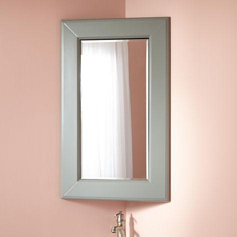 Winstead Corner Medicine Cabinet With Mirror For Downstairs Bathroom 250