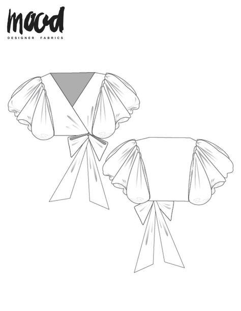 The Serissa Top - Free Sewing Pattern - Mood Sewciety - Women's fashion interests Free Printable Sewing Patterns, Plus Size Sewing Patterns, Dress Sewing Patterns, Free Sewing, Clothes Patterns, Blouse Sewing Pattern, Crop Top Pattern, Shirt Patterns, Pants Pattern