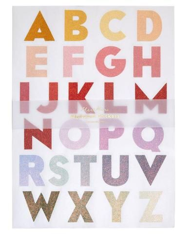 Large Ombre Alphabet Sticker Sheets In 2020 Christmas Gift Packaging Alphabet Stickers Christmas Party Supplies
