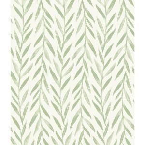 Magnolia Home By Joanna Gaines Willow Green Paper Strippable Roll Covers 56 Sq Ft Mk1135 The Home Depot Peel And Stick Wallpaper Green Wallpaper Home Wallpaper