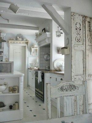 White and vintage - Küche  Kommode shabby chic, Shabby chic dekor