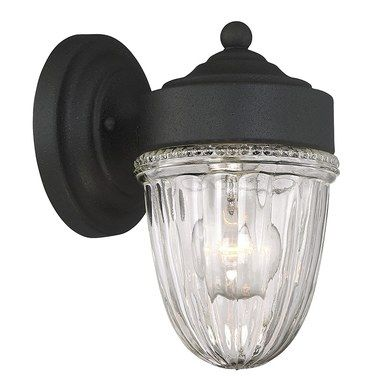 Exterior Collections Jelly Jar Wall Mount Outdoor Wall Light Fixtures Black Wall Lights Wall Lights