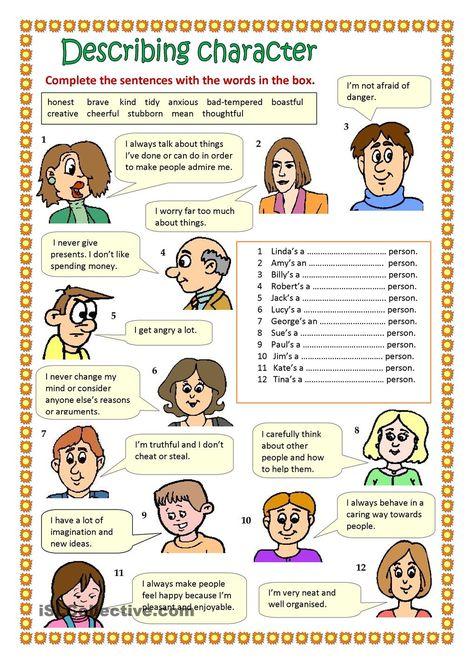 Describing character #EnglishVocabulary #expressions #Adjectives @English4Matura