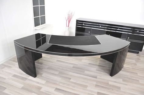 How To Decorate Your Home Through Large Office Desk Black