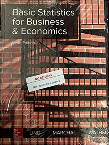 Basic Statistics For Business And Economics 9th Edition Douglas A Lind Buy Rent Used Book Online Business And Economics Used Books Online Economics