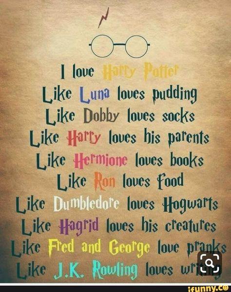 "Like Luna loves pudding Like [)0th loves socks '- Like Ham loves his parents Like Hermione loves books ."".' Like Rm loves food ÉÍ - iFunny :)"