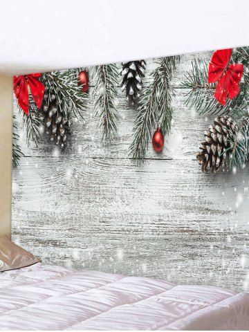 Christmas Tree Bowknot Wood Grain Print Tapestry Wall Hanging Art Decoration Tapestry Wall Hanging Dollar Tree Christmas Decor Boho Christmas Decor