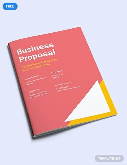 Free New Business Proposal Business Proposal Template Business