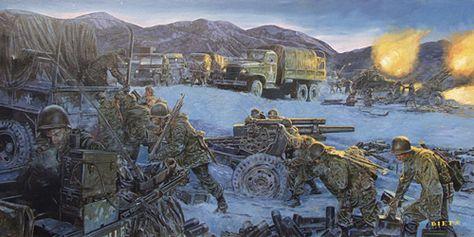Chosin Fires from Korean War by the artist James Dietz