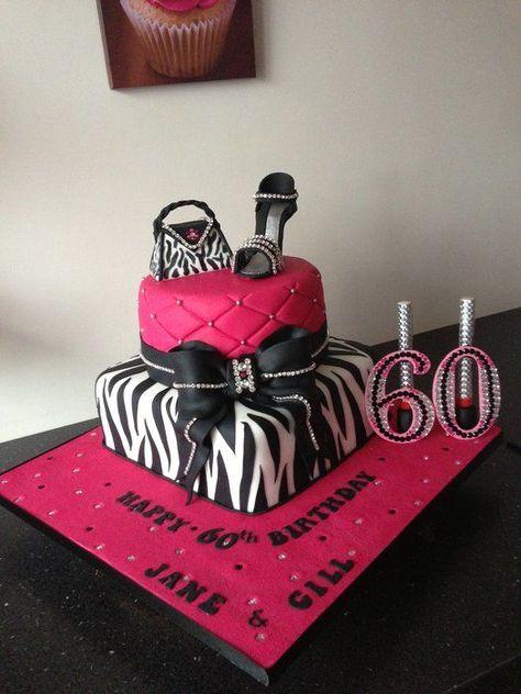 zebra ,pink ,shoes handbag and bling cake - Cake by Donnajanecakes ...