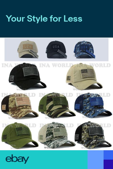 7e974135de3 USA American Flag hat Detachable Patch Micro Mesh Tactical Operator Military  cap