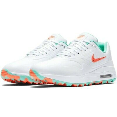 Limited Edition Nike Air Max 1 G Hot Punch Aurora Green Golf Shoes 2019 Heren