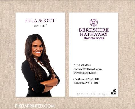 BHHS business cards biz cards Realtor business cards, Real