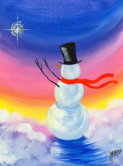 Christmas Paintings On Canvas Canvas Painting Projects