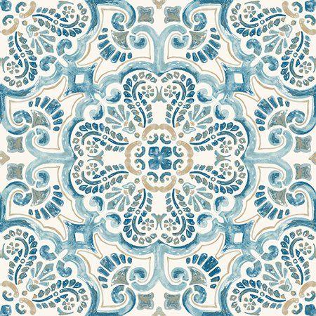 Floorpops Virgin Vinyl Blue Fp2477 Fontaine Peel Stick Floor Tiles Walmart Com In 2020 Peel And Stick Tile Stick On Tiles Peel And Stick Floor